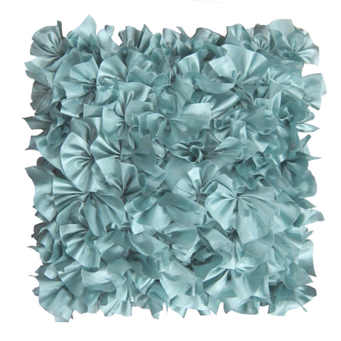 Satin Ruffle Decorative Pillow by Lush Decor