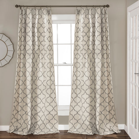 Geo Trellis Window Curtains