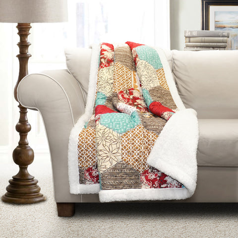 Grace Patchwork Throw by Lush Decor