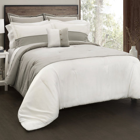 Contemporary Block Comforter Set