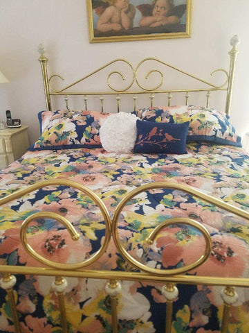 Floral Watercolor Comforter Set by Lush Decor in Master Bedroom