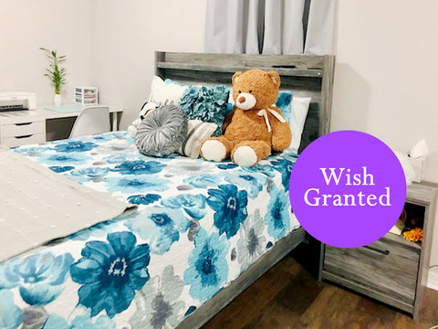 Wish Granted: Make-A-Wish Bedroom Makeover with Leah Quilt Set