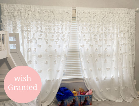 Riley Curtains in Disney's Frozen Theme Bedroom for Wish Kid Quinlann