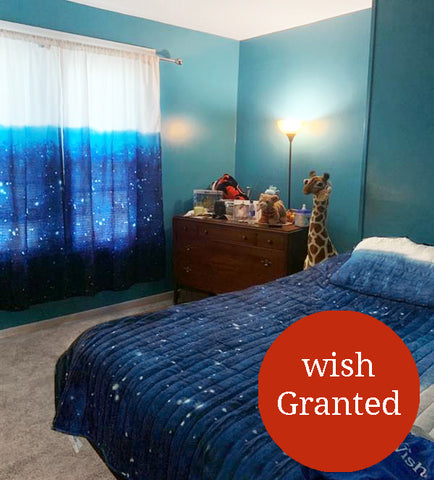 Make A Wish Space Star Ombre Collection in Wish Kid Londyn's Bedroom