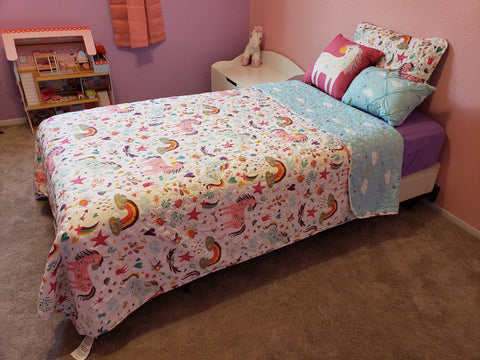 Unicorn Heart Quilt Set by Lush Decor