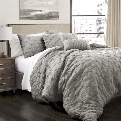 Ravello Pintuck Comforter Set by Lush Decor