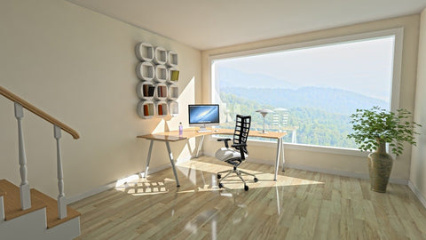 Office space with natural lighting