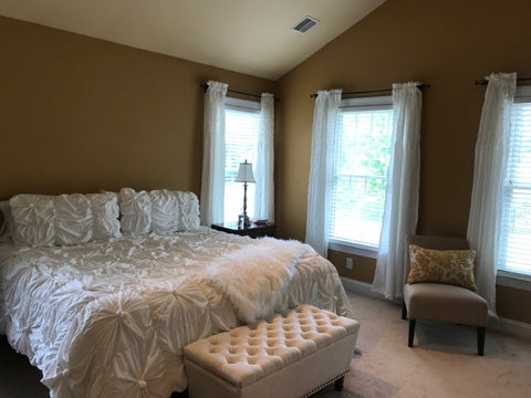 Bella Comforter Set and Bayview Window Curtains