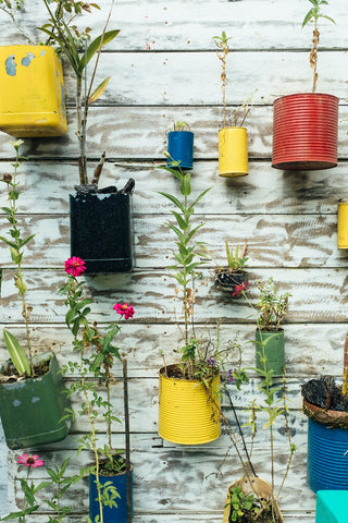 decorate with old garden items