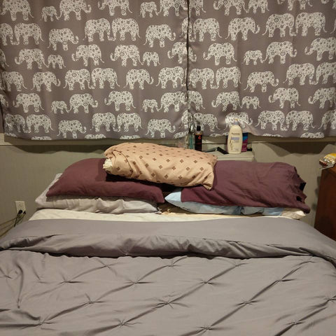 Elephant Parade Curtains Hemmed