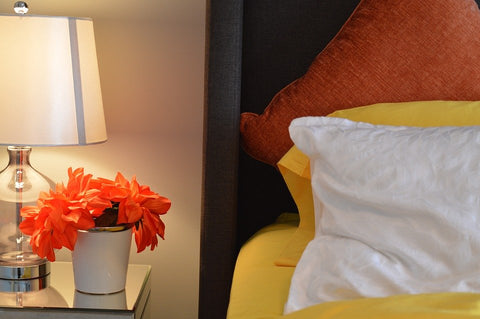 A beautiful bedside flower decoration