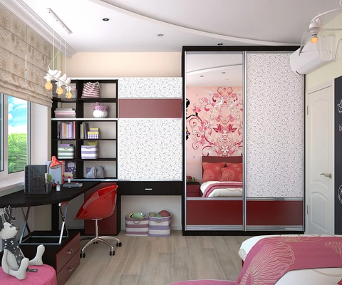 decorative closet in a girl's bedroom
