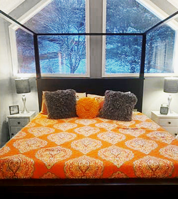 Harley Quilt Set in a vacation home in the Poconos