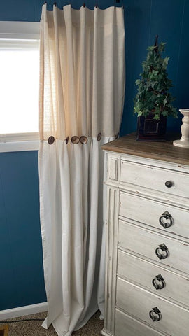 Linen Button Window Curtain