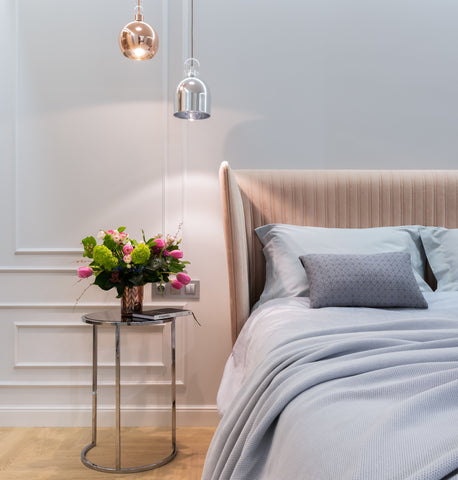Wall sconces in bed room
