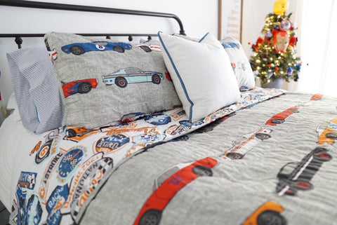 Race Cars Quilt Set