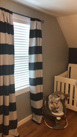 Stripe Blackout Curtains