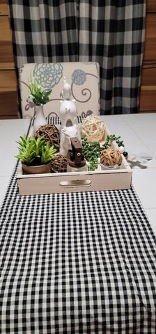 Gingham Check Yarn Dyed Table Runner by Lush Decor