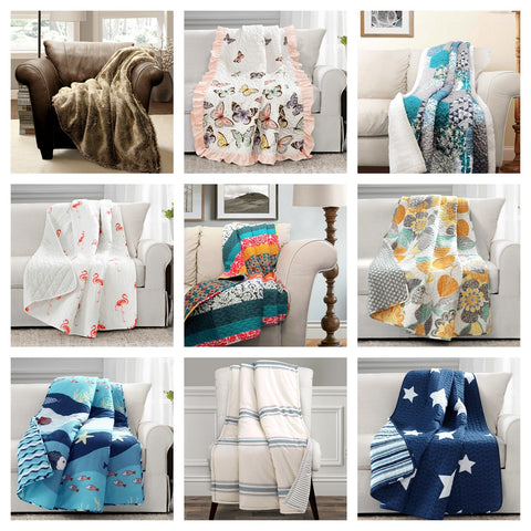 Throw blankets by Lush Decor