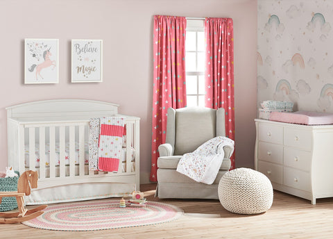 Unicorn Heart Rainbow Curated Nursery Collection by Lush Decor Baby