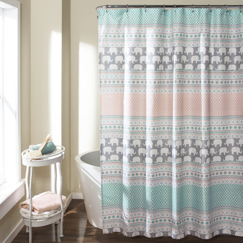 Elephant Stripe Shower Curtain