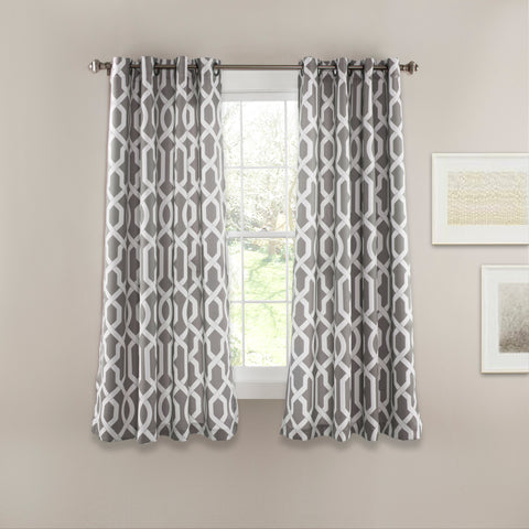 Edward Trellis Room Darkening Window Curtain Panel Set