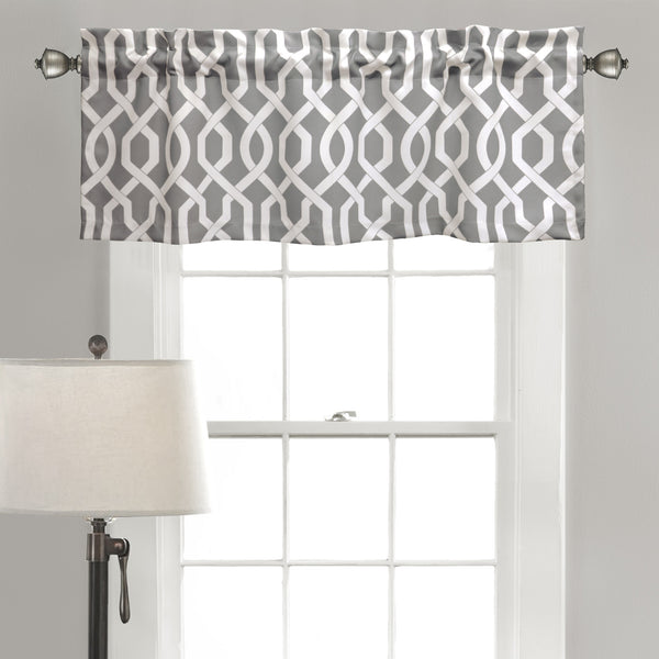 Edward Trellis Room Darkening Valance Set
