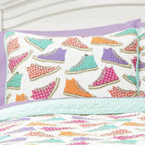 Canvas Shoes Quilt 3 Piece Set