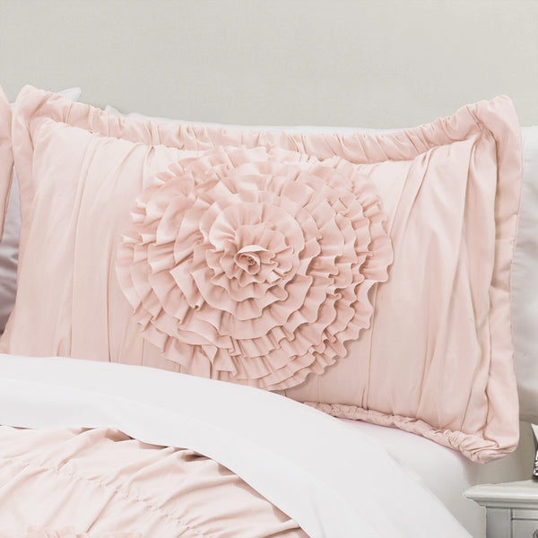 Serena Comforter 3 Piece Set Pink Blush