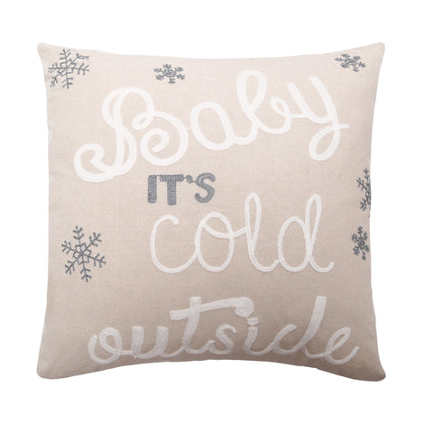 Baby Its Cold Outside Decorative Pillow