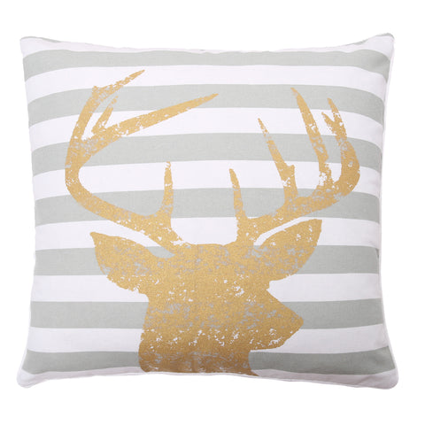 Reindeer Head Decorative Pillow
