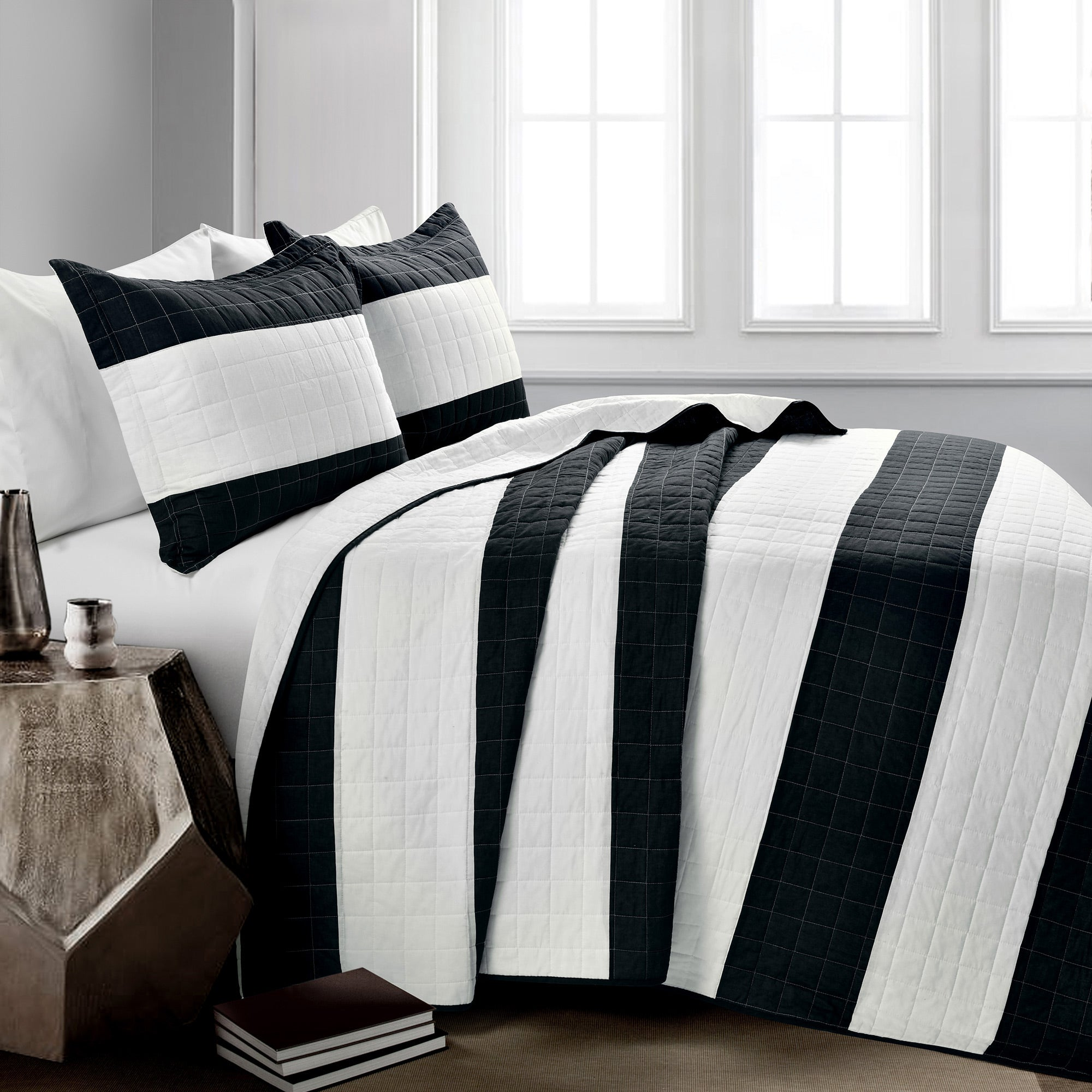 Stripe 3 Piece Quilt Set Lush Decor Www Lushdecor Com Lushdecor