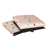 Sausage Dog Fabric Covered Collapsible Ottoman