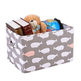 Whale Fabric Covered Collapsible Box 3-Piece Set