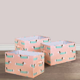 Sausage Dog Fabric Covered Collapsible Box 3-Piece Set
