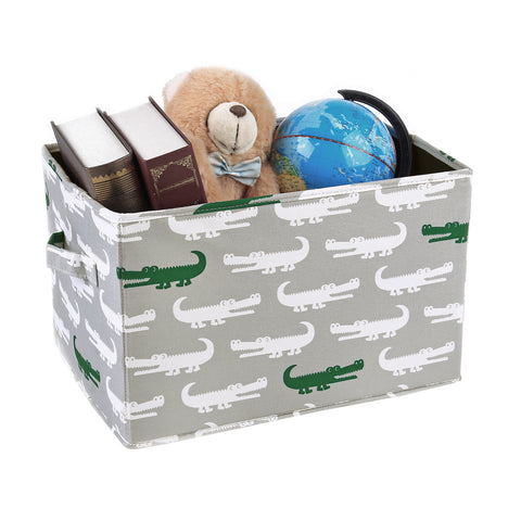 Alligator Fabric Covered Collapsible Box 3-Piece Set