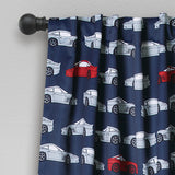 Race Cars Room Darkening Window Curtain Set
