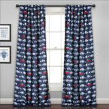 Race Cars Room Darkening Window Curtain (Pair)