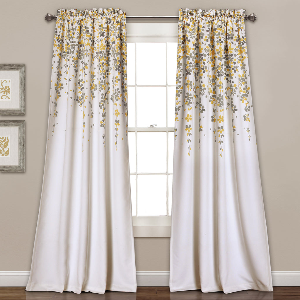 Weeping flower room darkening window curtain pair lush decor www weeping flower room darkening window curtain set mightylinksfo