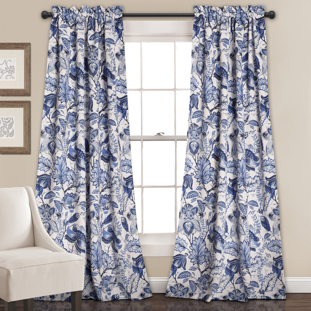 cynthia jacobean room darkening window curtain set - Room Darkening Curtains