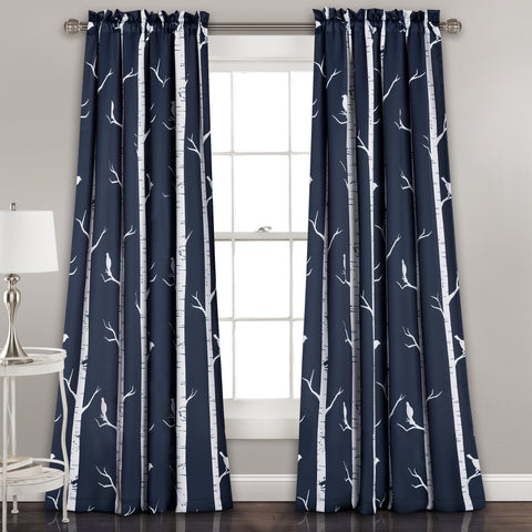 Bird on the Tree Room Darkening Window Curtain Set