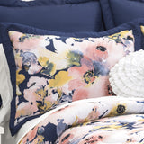 Floral Watercolor Comforter 7 Piece Set