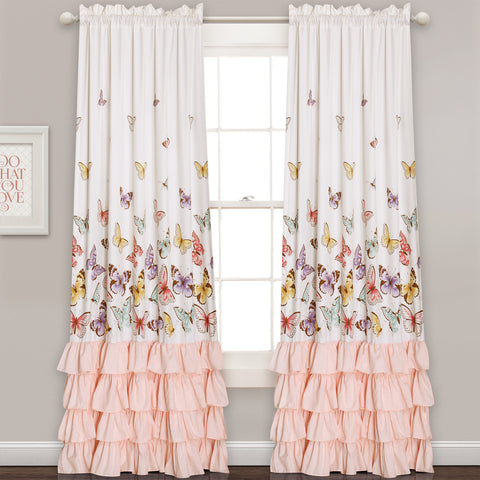 Flutter Butterfly Window Curtain Set