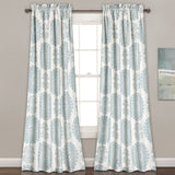 Evelyn Medallion Room Darkening Window Curtain Set