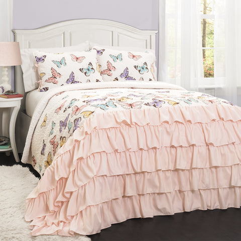 Flutter Butterfly Quilt 2 Piece Set Twin