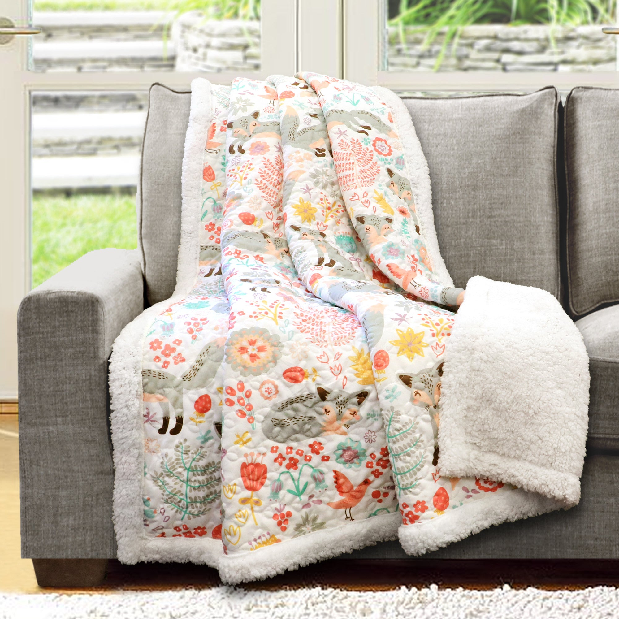 Pixie Fox Throw Sherpa