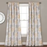 Multi Circles Room Darkening Window Curtain Set
