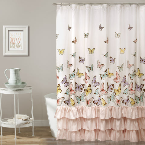 Flutter Butterfly Shower Curtain