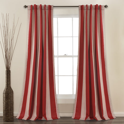 Julia Stripe Room Darkening Window Curtains Set
