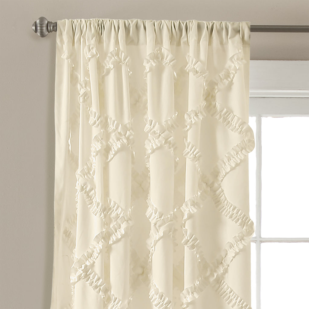 Ruffle Diamond Window Curtain Set | Lush Decor | www.lushdecor.com